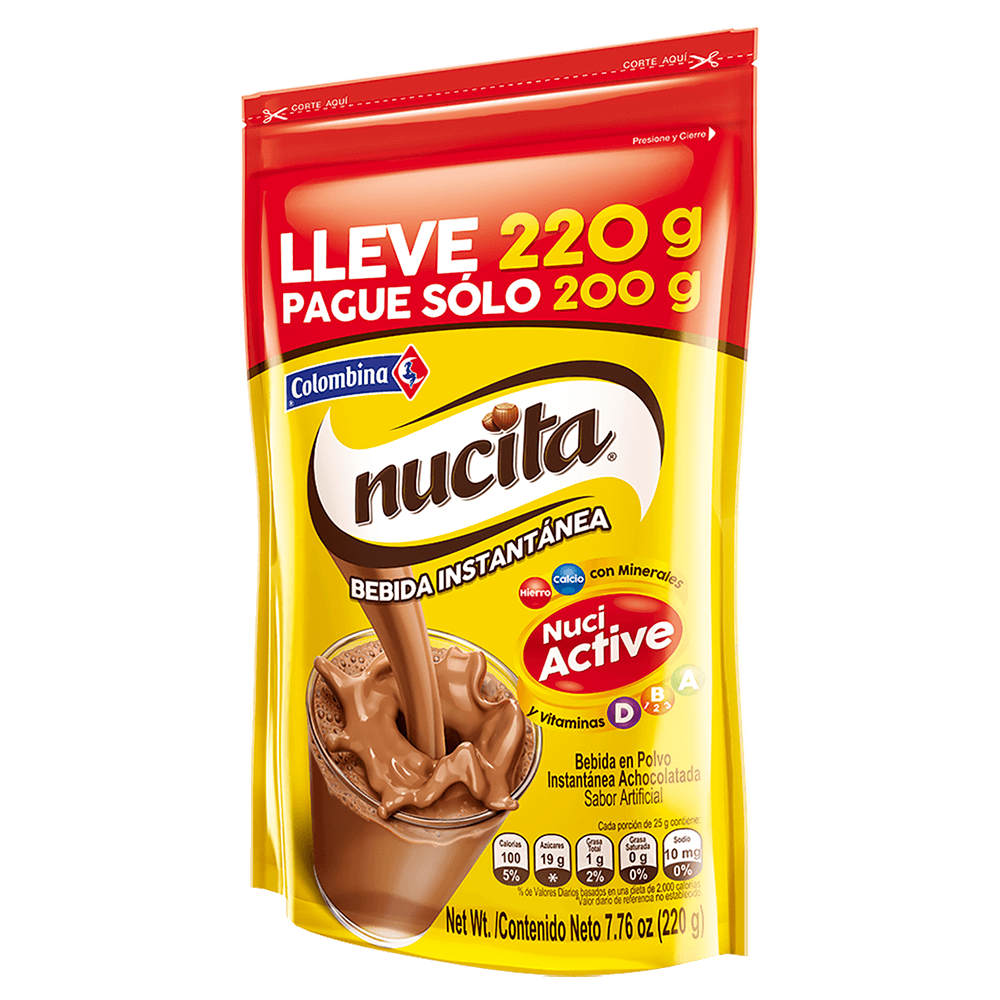 Doy Pack Nucita Extraco 220g