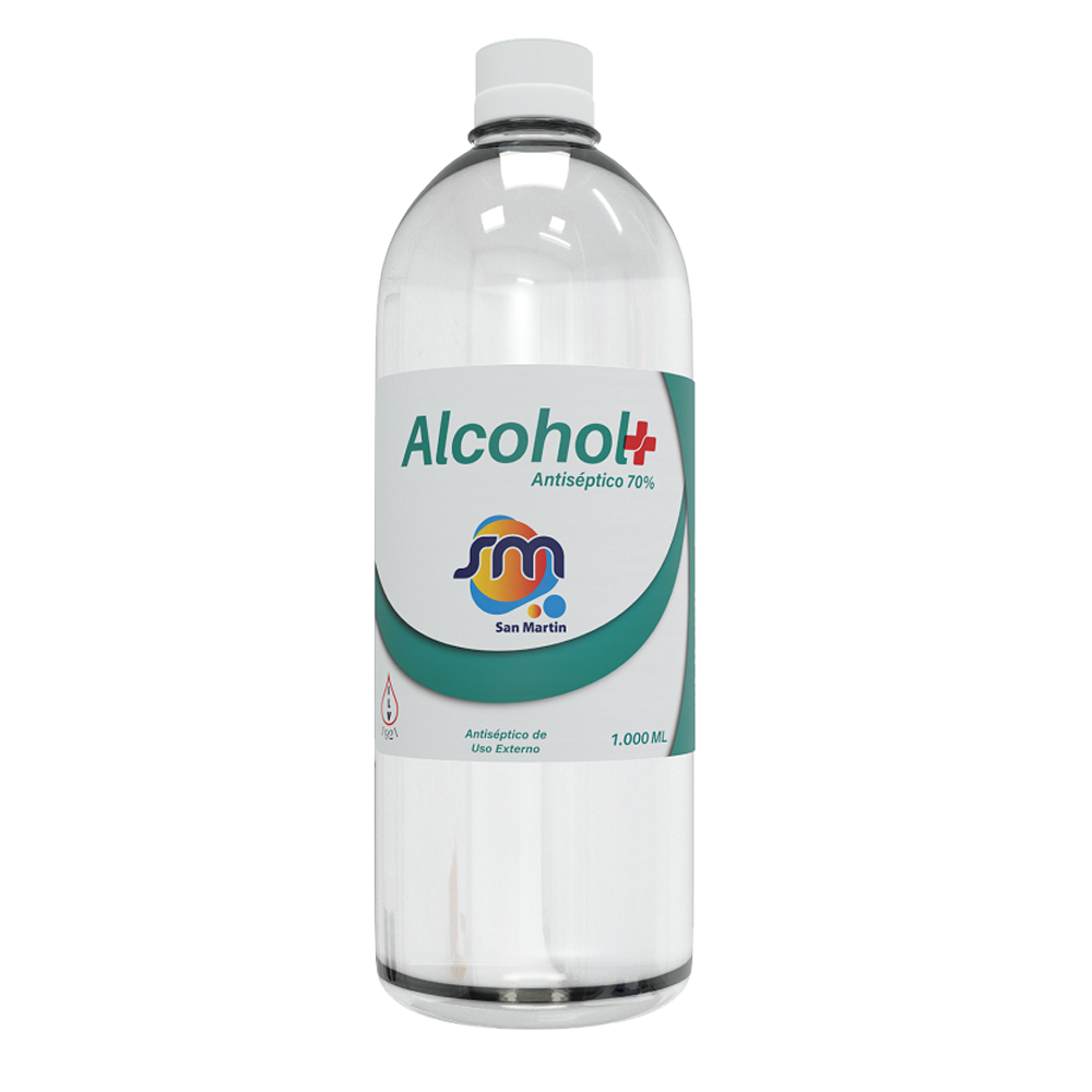Alcohol antiseptico San Martin 1000 ml