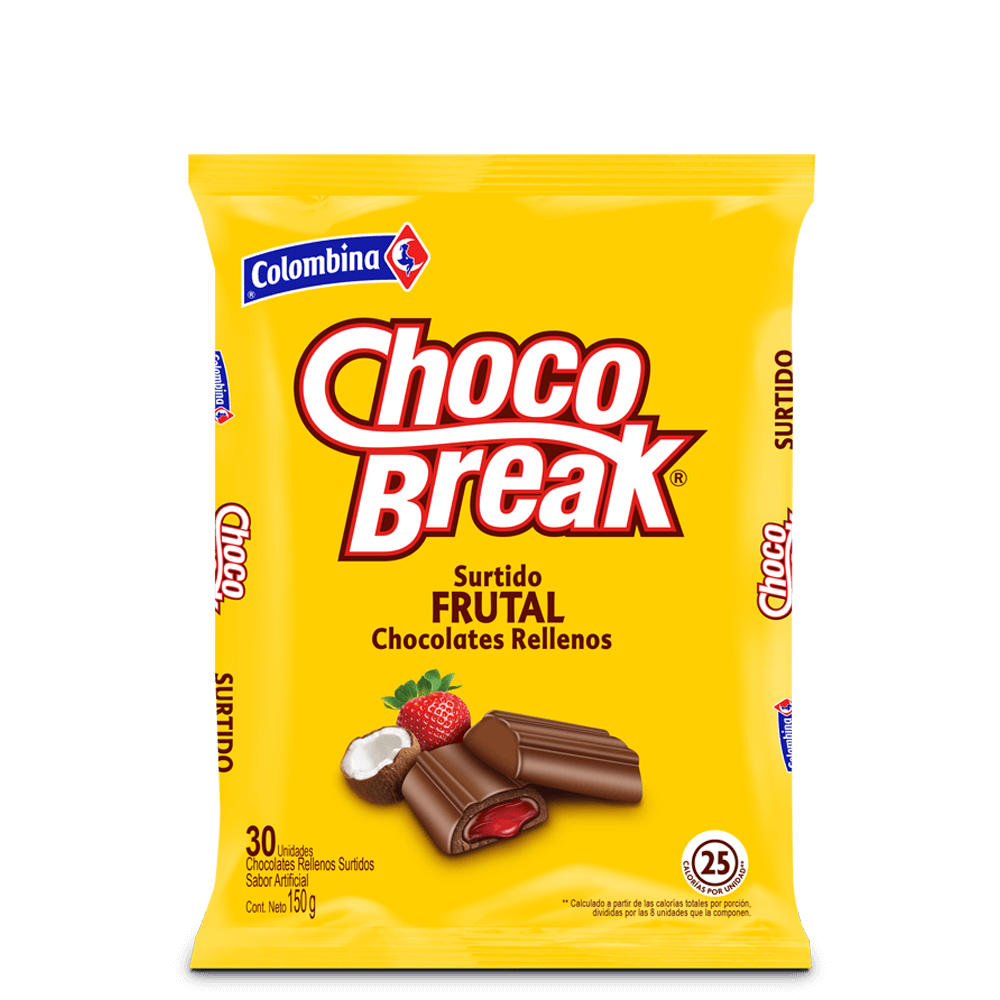 ChocoBreak Surtido Frutal x 30 UN