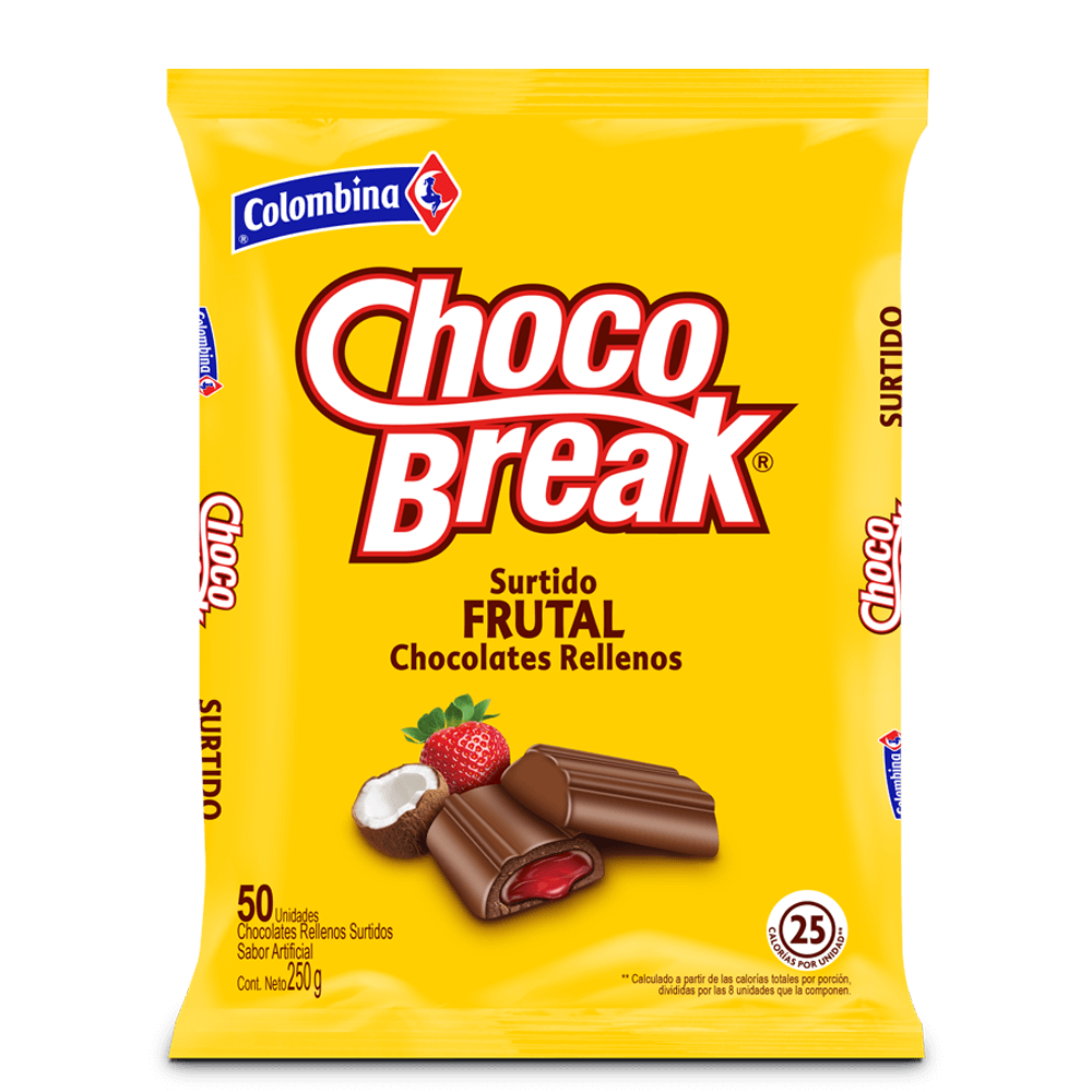 ChocoBreak Surtido Frutal x 50 UN