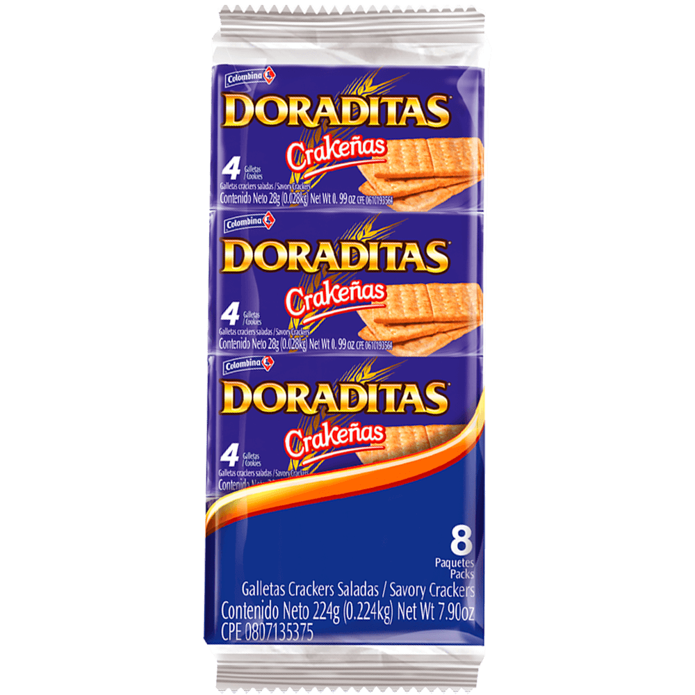 Crakeñas Doraditas 8 uds