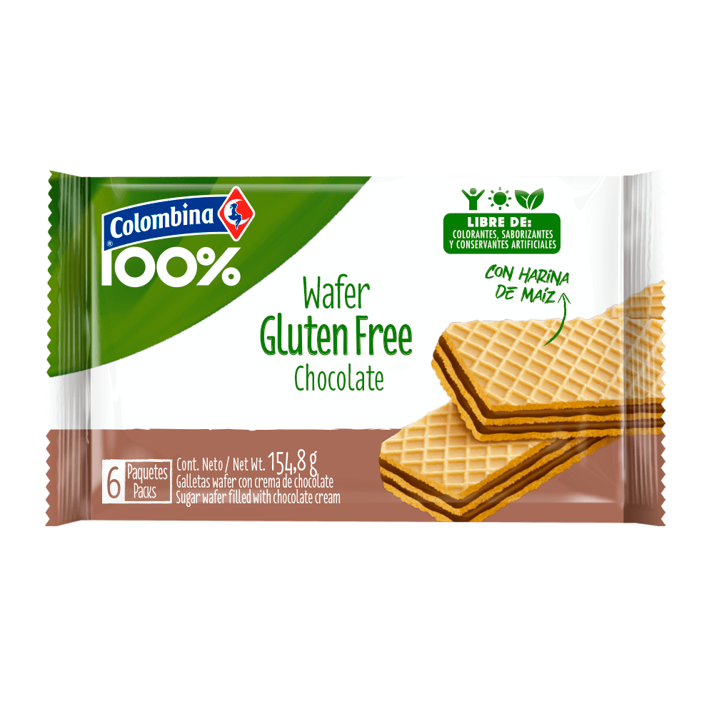 Wafer Gluten Free Chocolate 6 uds