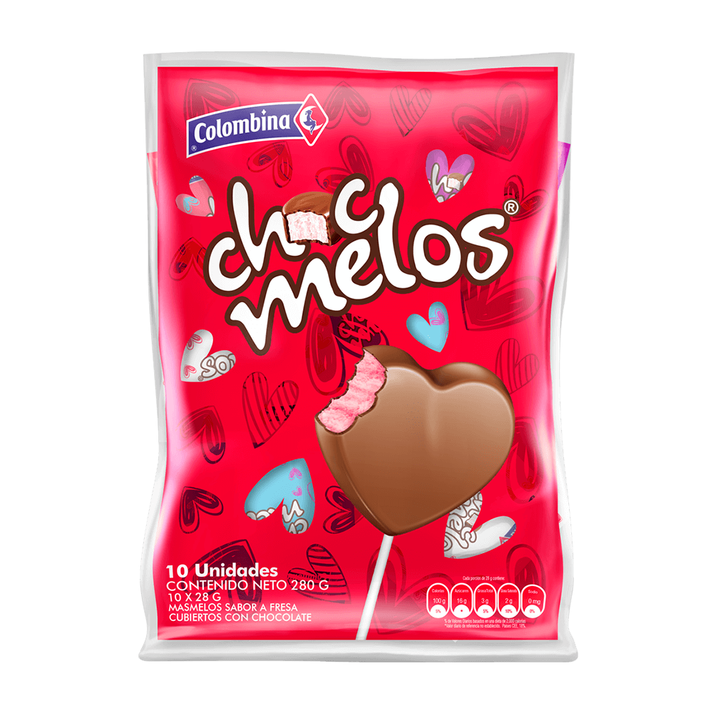 Chocmelos Corazon BS x 10 UN